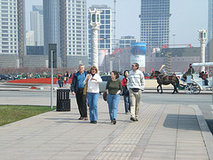 On a study tour in Dalian
